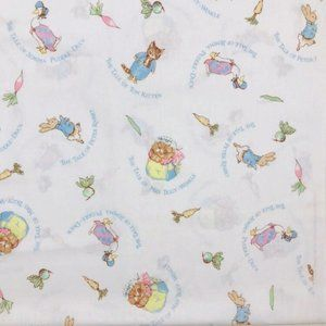 Peter Rabbit Print Fabric Vintage